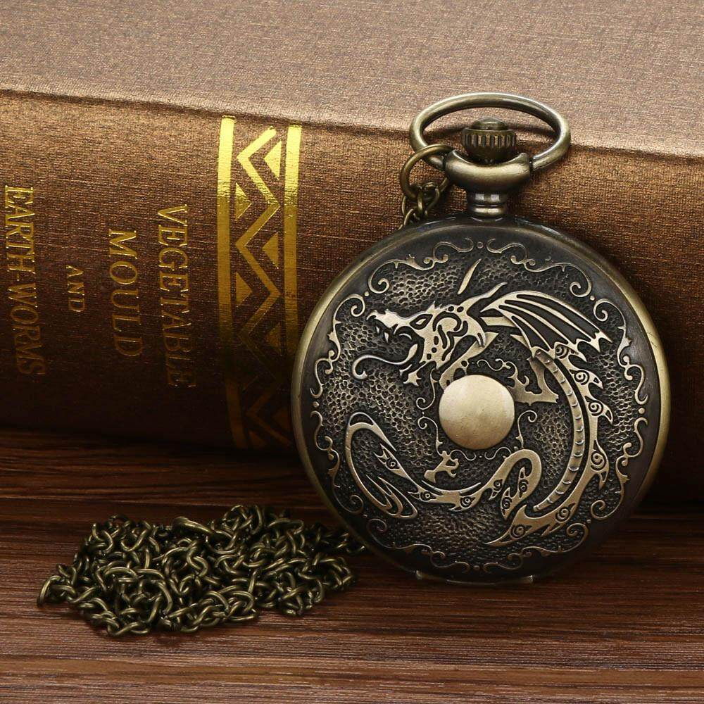 Free shipping Naponie Vintage Chain Retro The Greatest Pocket Watch Necklace For Grandpa Dad Gifts Malaysia