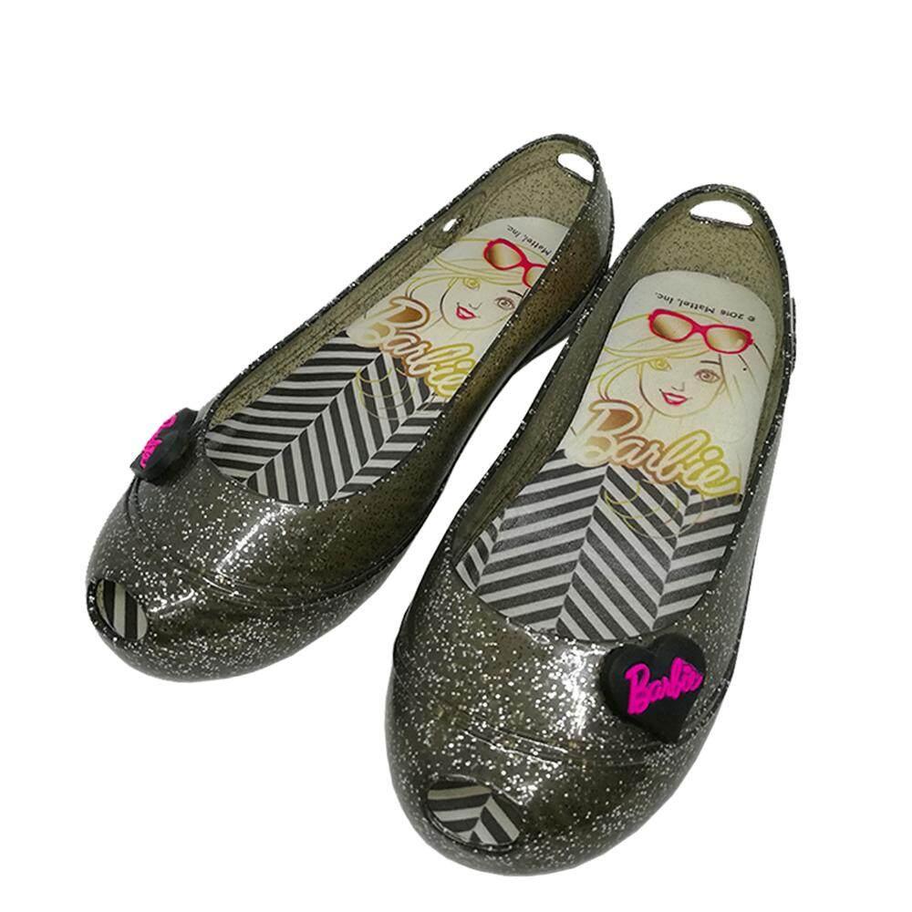 97352460999 GlamKidz Barbie Kids Fashion Shoes (Gold)  6202