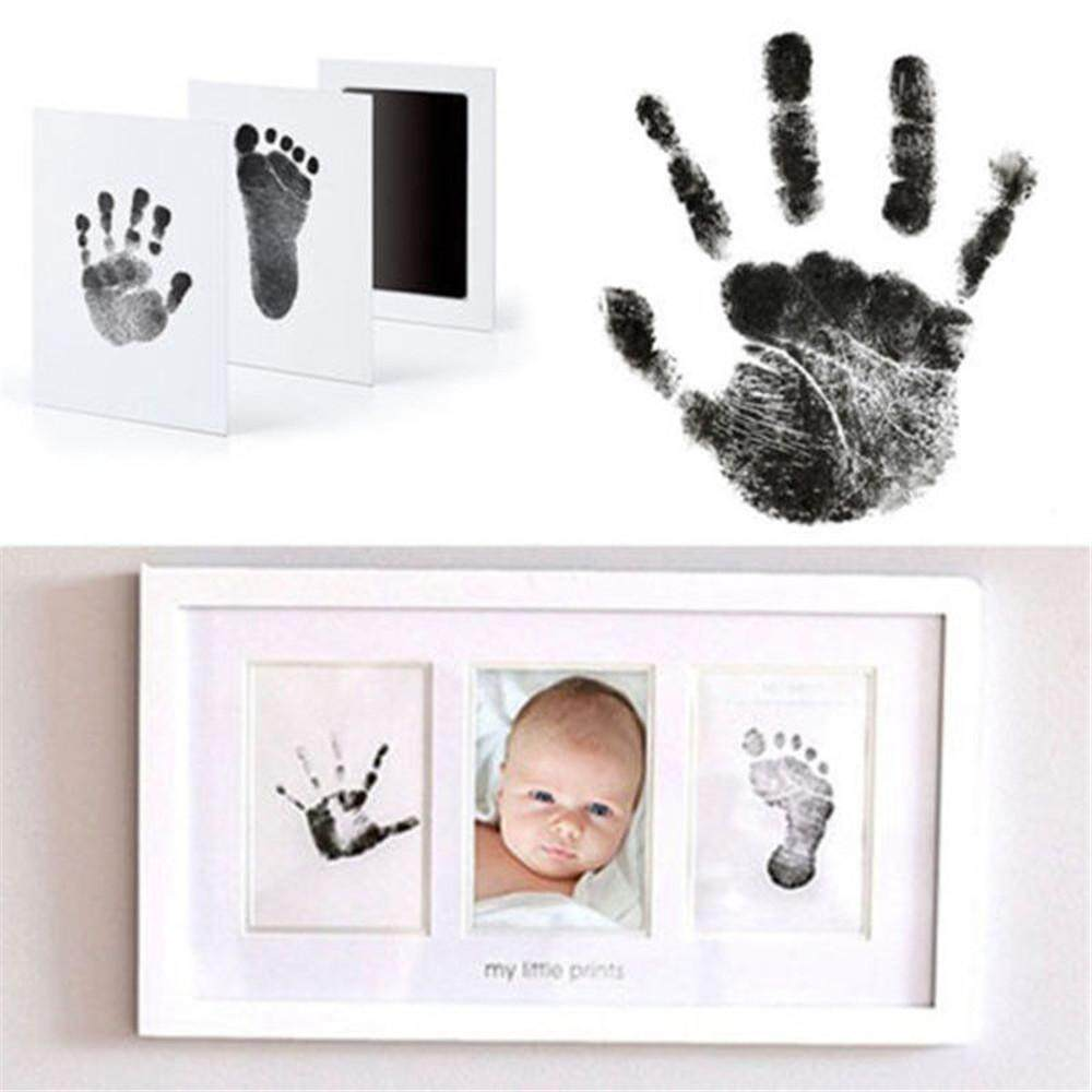Baby Newborn Handprint Footprint Imprint Clean Touch Ink Pad Photo Frame Kit Hot By Best Land.