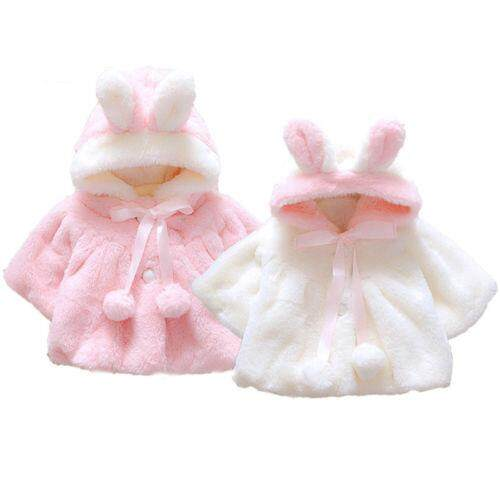 Winter Newborn Baby Girls Fur Coat Cloak Jacket Snowsuit Outerwear Clothes By Sugarbabies.