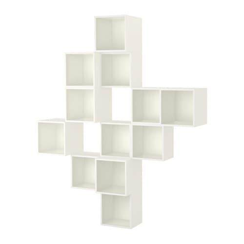 Eket Wall-Mounted Cabinet Combination White 175x35x210 Cm By Eightynine.
