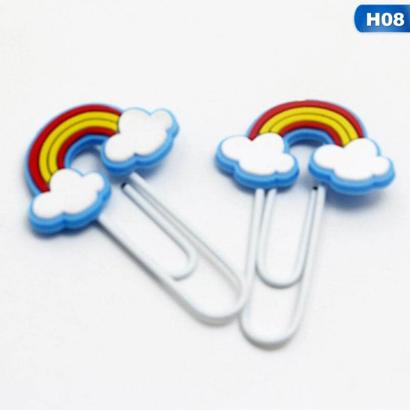 5 Pcs Linfang New Simple Paper Clip Modeling Portable Cartoon Unicorn Bookmarks By Linfang Store.
