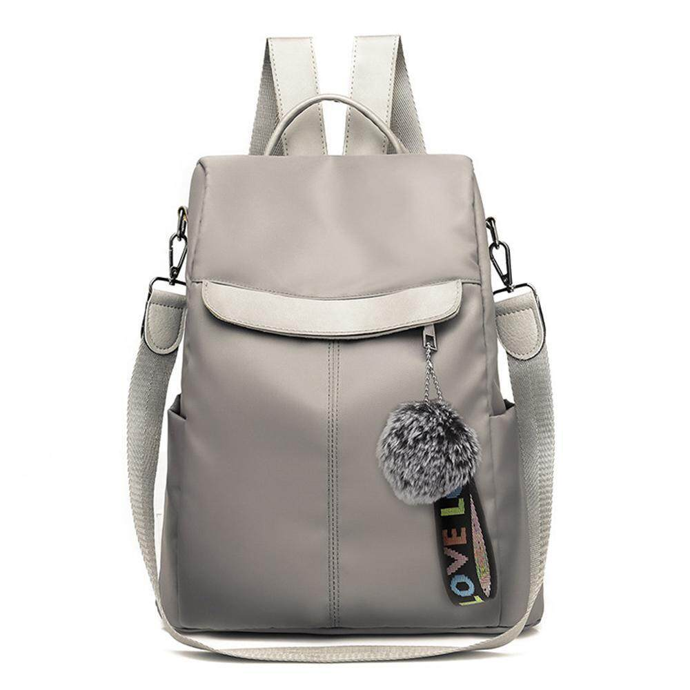 GoodGreat Fashion Women Double Zippers Oxford Backpack Purse Leather School Shoulder Bag Ladies,Waterproof Backpack