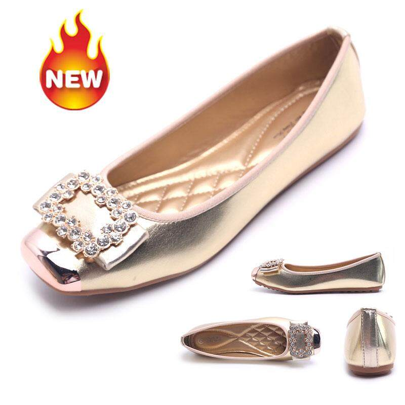 Outlet Trend Ballet Flats for women New fashion rhinestone square head  single shoes ballet flat shoes b0d287701254