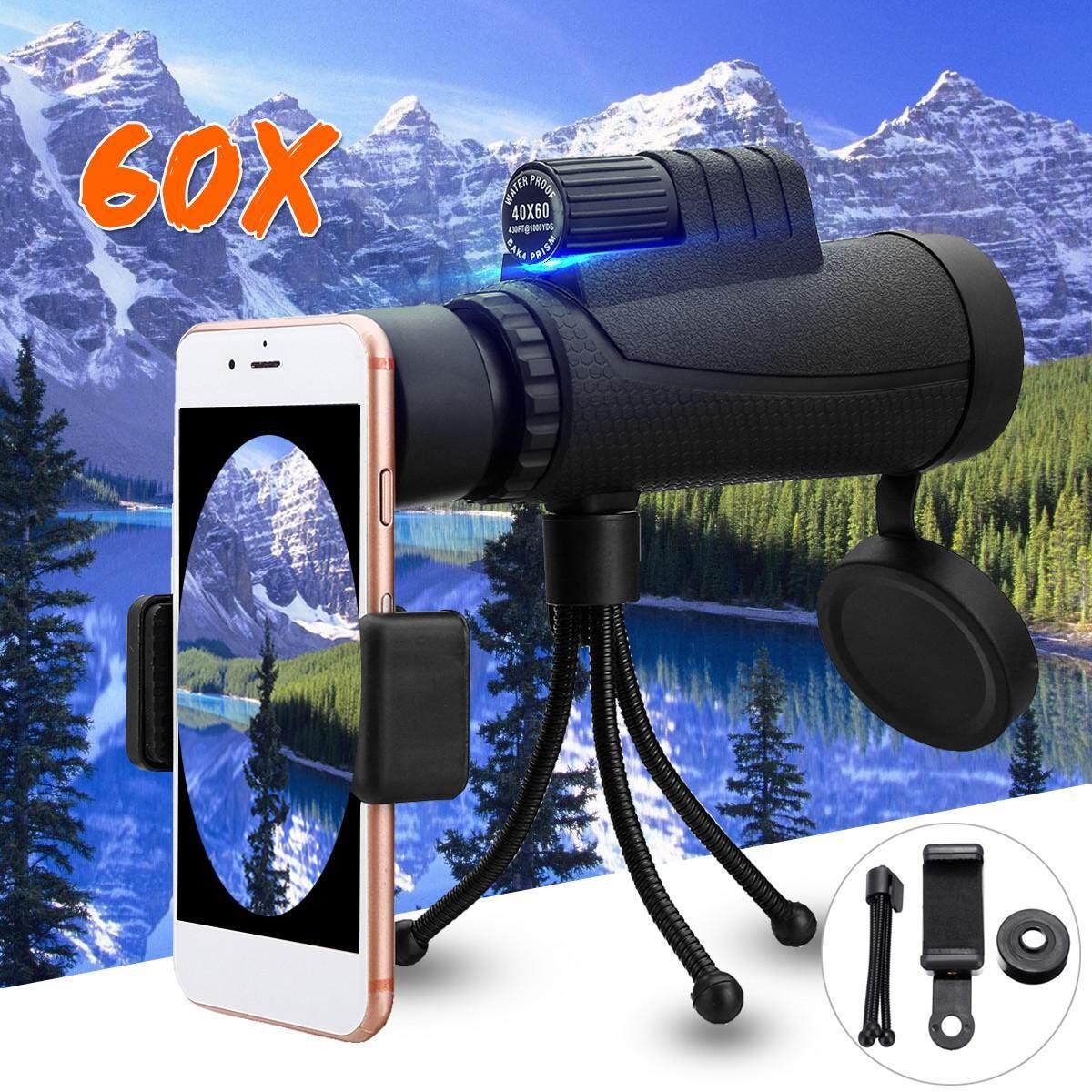 40x60 Telephoto Monocular Camera Lens + Phone Holder + Tripod For Mobile Phone