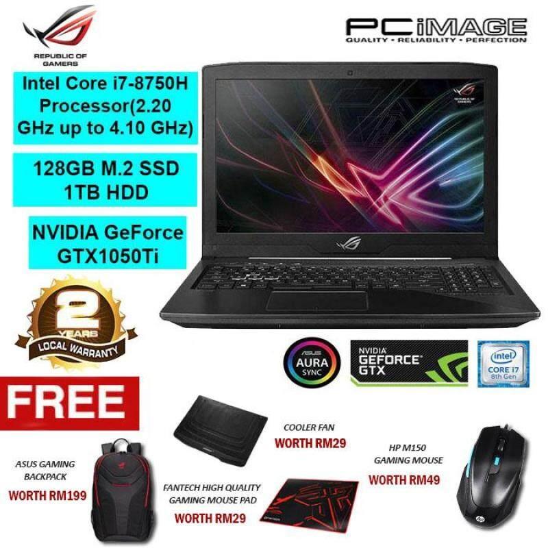 Asus ROG Strix Hero GL503G-EEN057T (Intel i7-8750H, 8GB, 1TB+128GB, GTX1050Ti, W10) Gaming Notebook-Black Malaysia