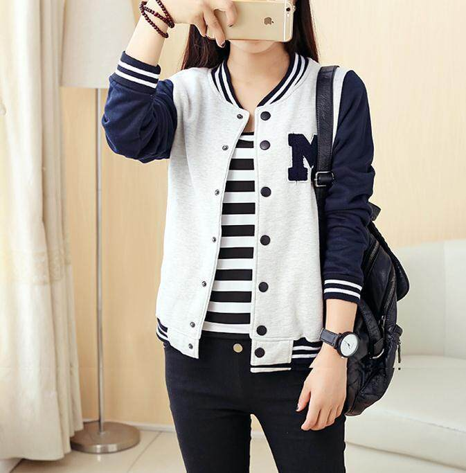 2018 Spring And Summer Women Clothing New Korean Baseball Uniform Cardigan Tide Womens Jacket Coat Fashion Outerwear By Cp Club.