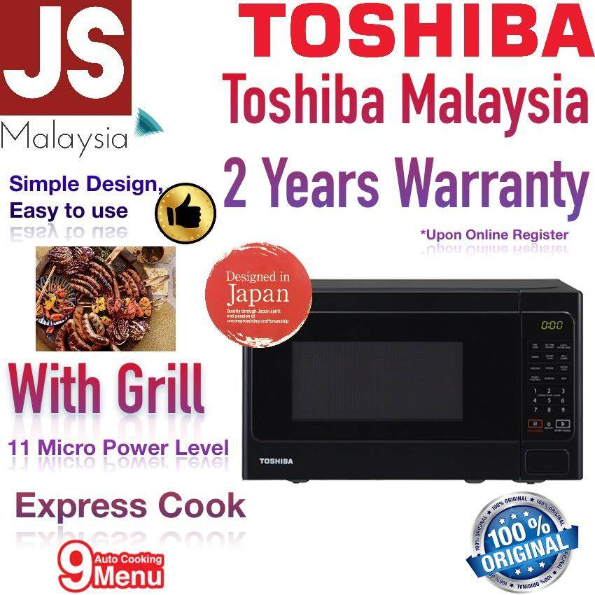 Toshiba Microwave With Grill Er-Sgs20 9 Auto Menu [2 Years Warranty] By Js Trading.