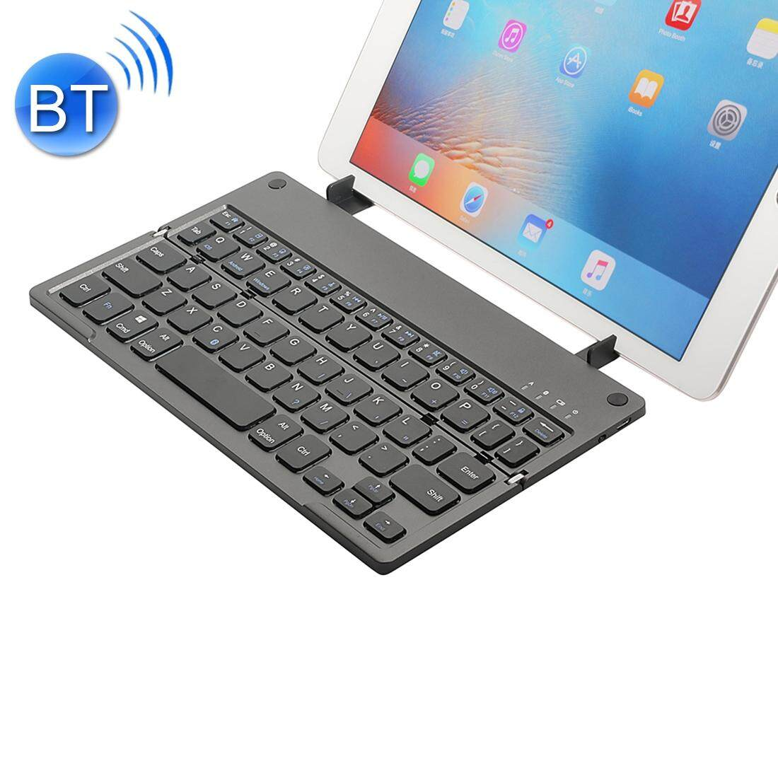 MC Saite MC-B048 78 Keys Foldable Ultra-thin Bluetooth 3.0 Keyboard with Holder for Mobile Phone, Tablet PC, Laptop(Black) Malaysia