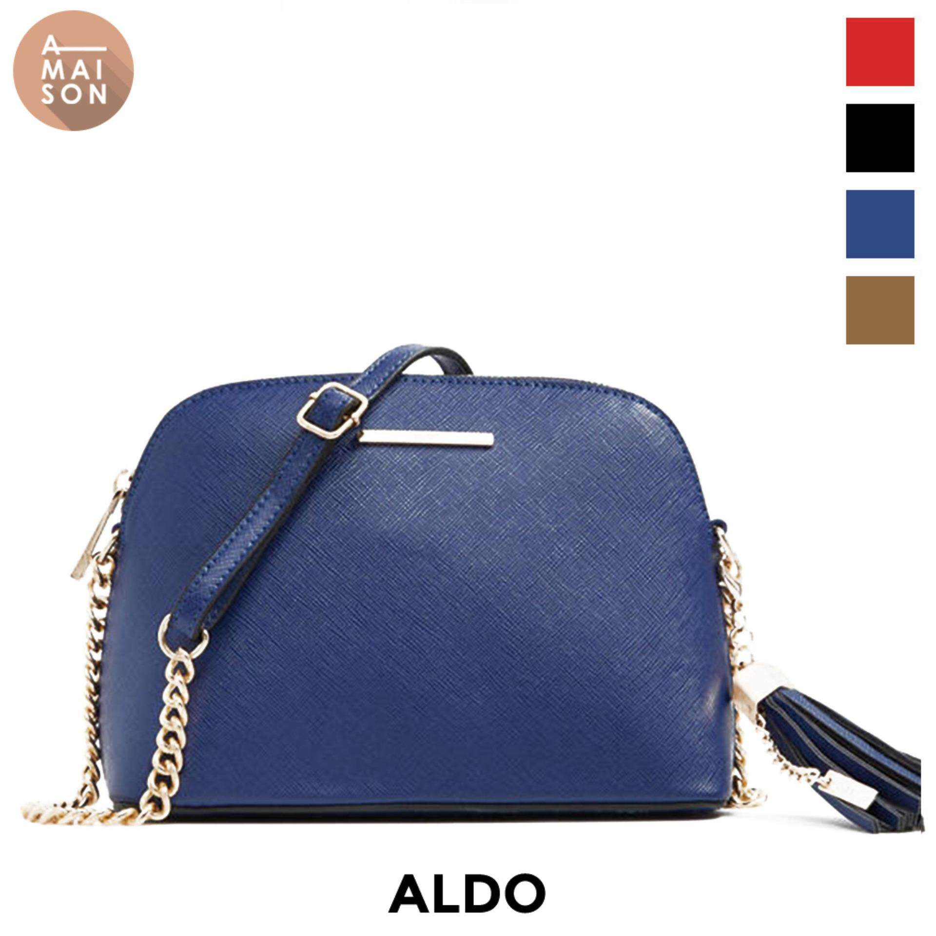 7fb121393fc Authentic Aldo Elroodie Saffiano Leather Shell Daily Chic Crossbody Satchel  Minimal Simple Tassel Sling Bag