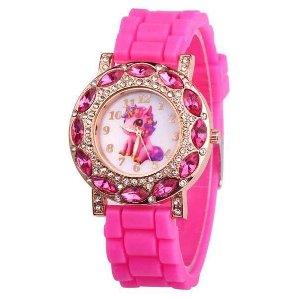 Amart Fashion Cute Children Girl Wrist Quartz Watch Round Durable Unicorn Pattern Cute Casual Gift Malaysia