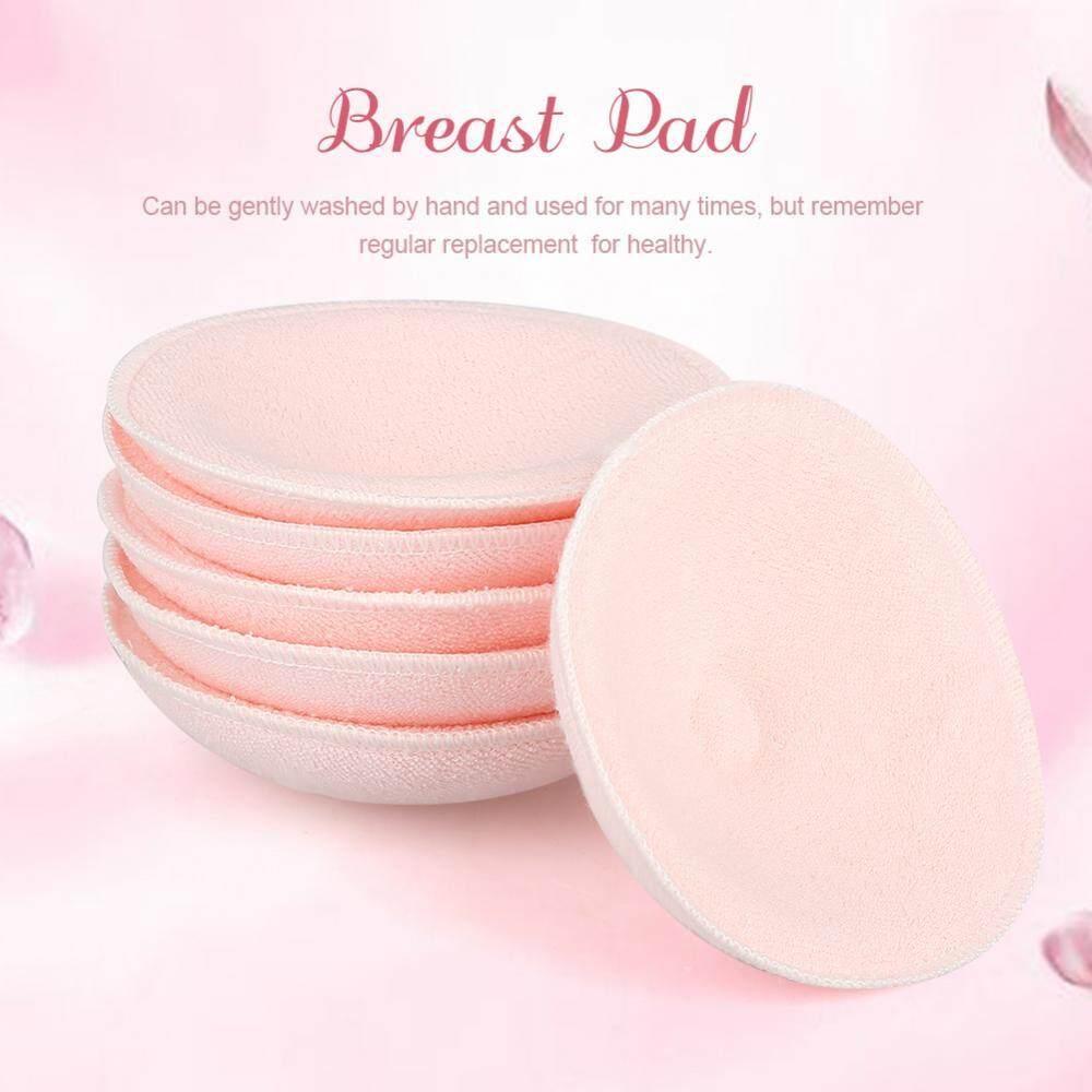 6Pcs Reusable Washable Breast Pad Baby Nursing Pad Cotton Breastfeeding Bra Pink