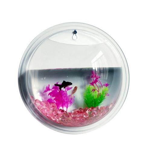 New Fashion Plants Wall Mounted Hanging Bubble Acrylic Bowl Fish Tank Aquarium Home Decoration(22.5
