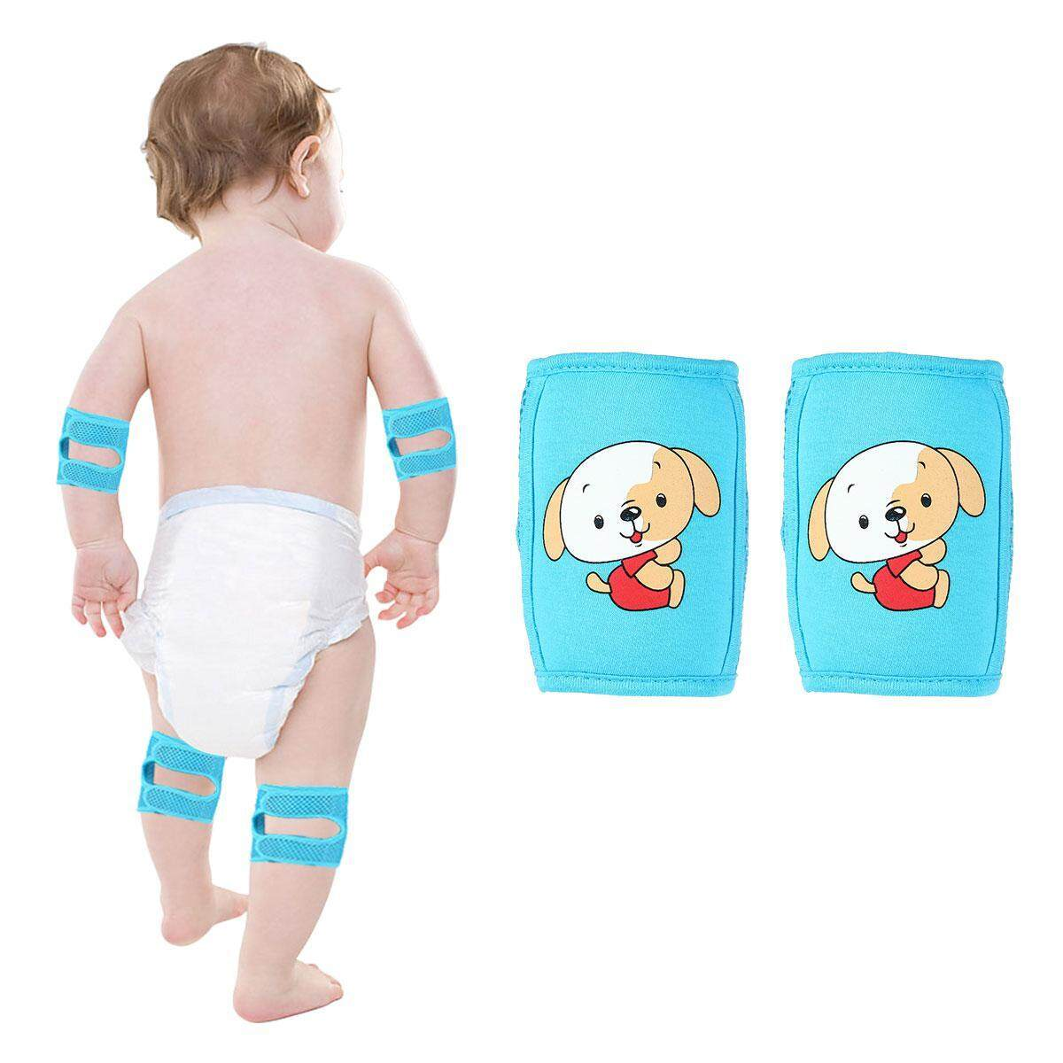 Girls' Baby Clothing 1 Pair Protector Safety Mesh Leg Warmer Children Kids Cartoon Crawling Elbow Infants Toddlers Baby Knee Pads