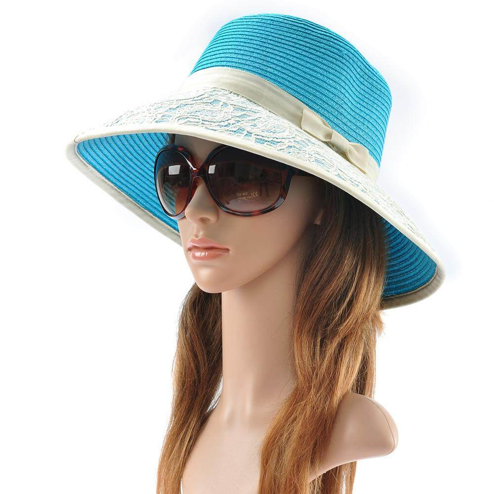 2580ae37 Hat Female Summer Korean Style Fashion Straw Hat Foldable Summer Beach Hat  Sun Hat Sun-