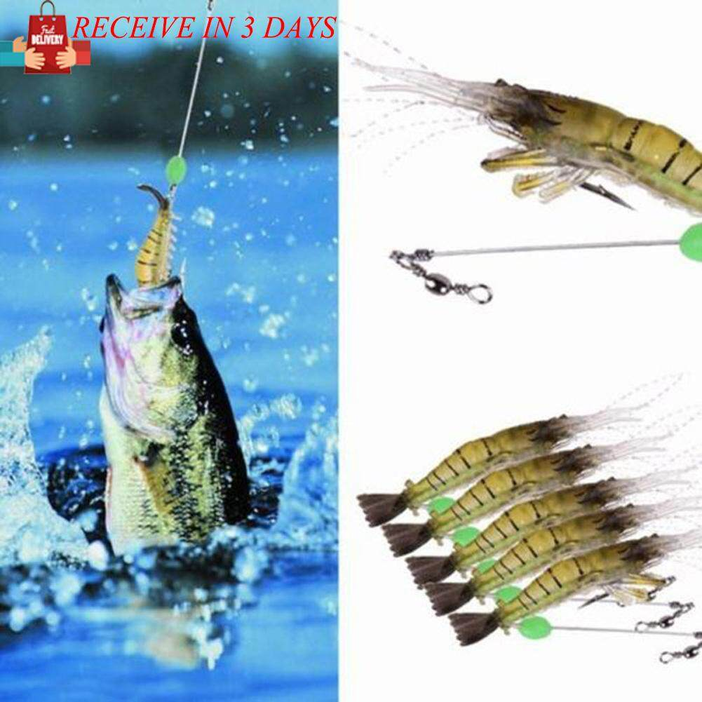 Lures Baits Buy At Best Price In Malaysia Www Umpan Pancing Minnow Lure 7 Cm 4g Fast Delivery5pcs Shrimp Fishing Simulation Noctilucent Soft Prawn Hook My