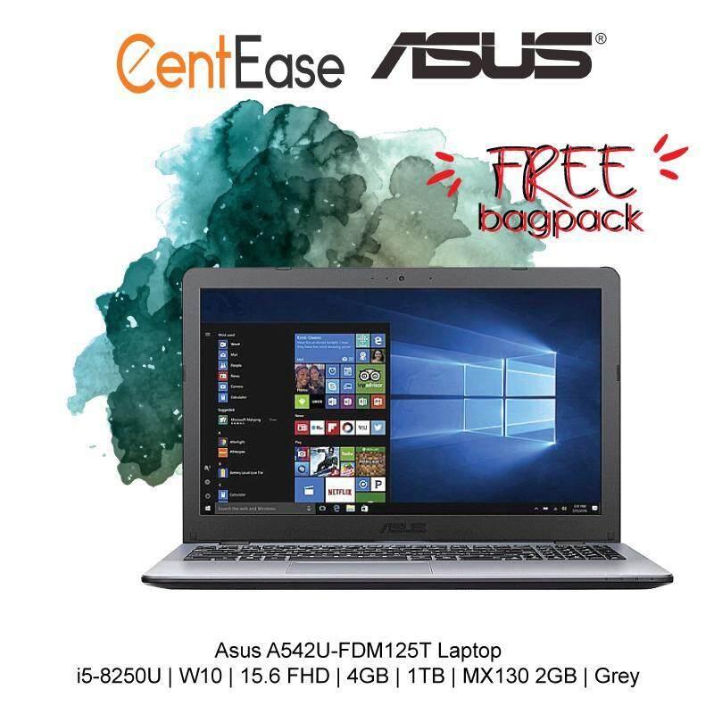 Asus A542U-FDM125T Laptop - i5-8250U| W10| 15.6 FHD| 4GB| 1TB| MX130 2GB| Grey Malaysia