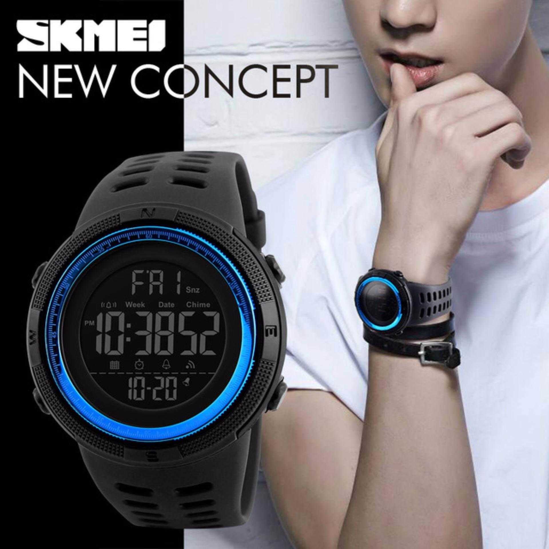 Skmei Watches Price In Malaysia Best Lazada Jam Tangan Pria Watch 9106 Original Water Resistant Black Red