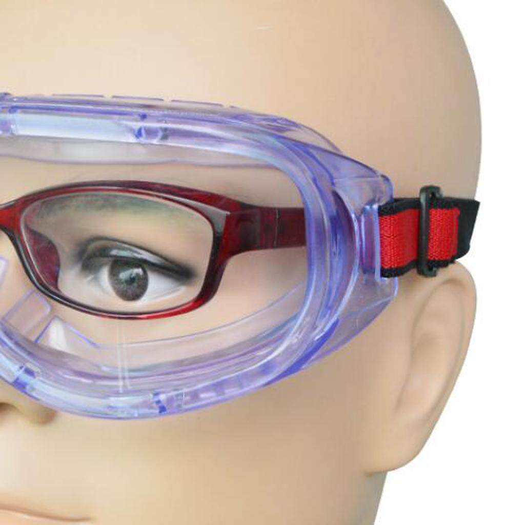 Dolity Adjustable Safe Clear Goggles Glasses Eye Protection Lab Workplace Anti Fog