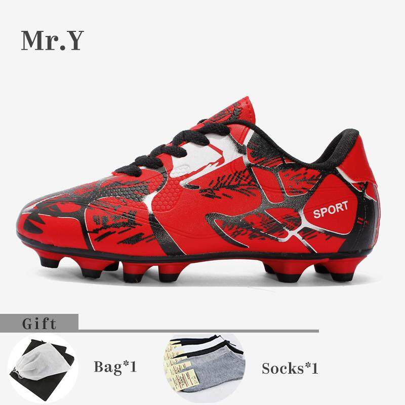 ecfba3d75 Mr.Y Men Soccer Shoes AG Outdoor Kids Soccer Boots Kasut Bola Sepak Football  Shoes