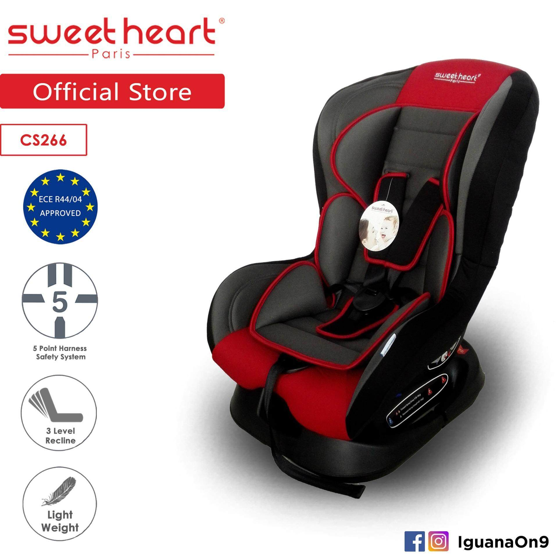 Sweet Heart Paris CS266 Safety Car Seat (Red) with Comfort Padded