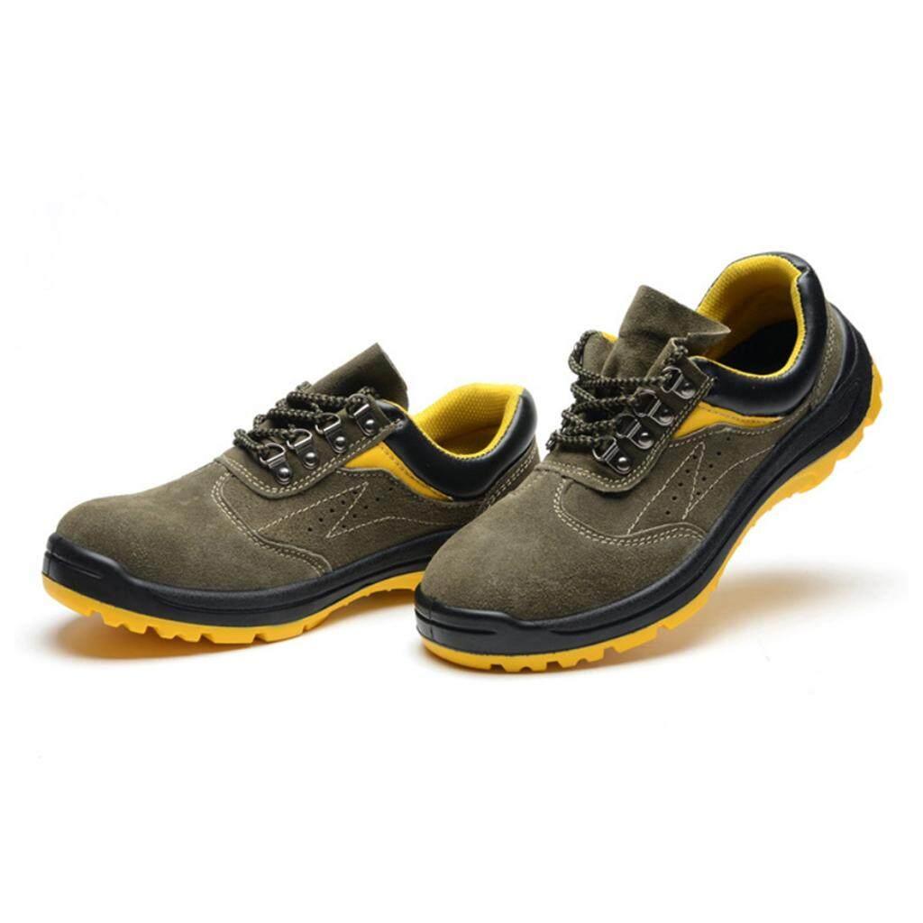 Miracle Shining Safety Work Shoes, Steel Toe Midsole Work Boots, Anti-Slip US8.5 EU42 UK8