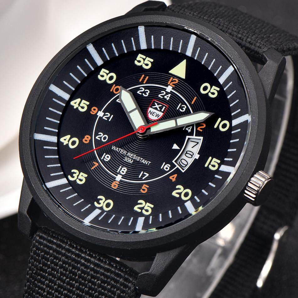 Military Mens Quartz Army Watch Black Dial Date Luxury Sport Wrist Watch radocie Malaysia