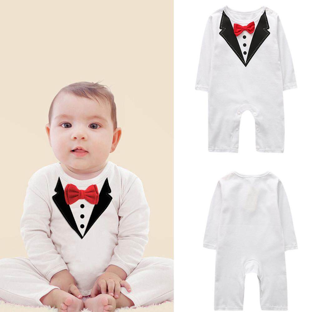 64f567f03 Product details of Free Shipping Newborn Kids Baby Boys Outfits Sets  Jumpsuit Bow Tie Romper Gentleman Clothes