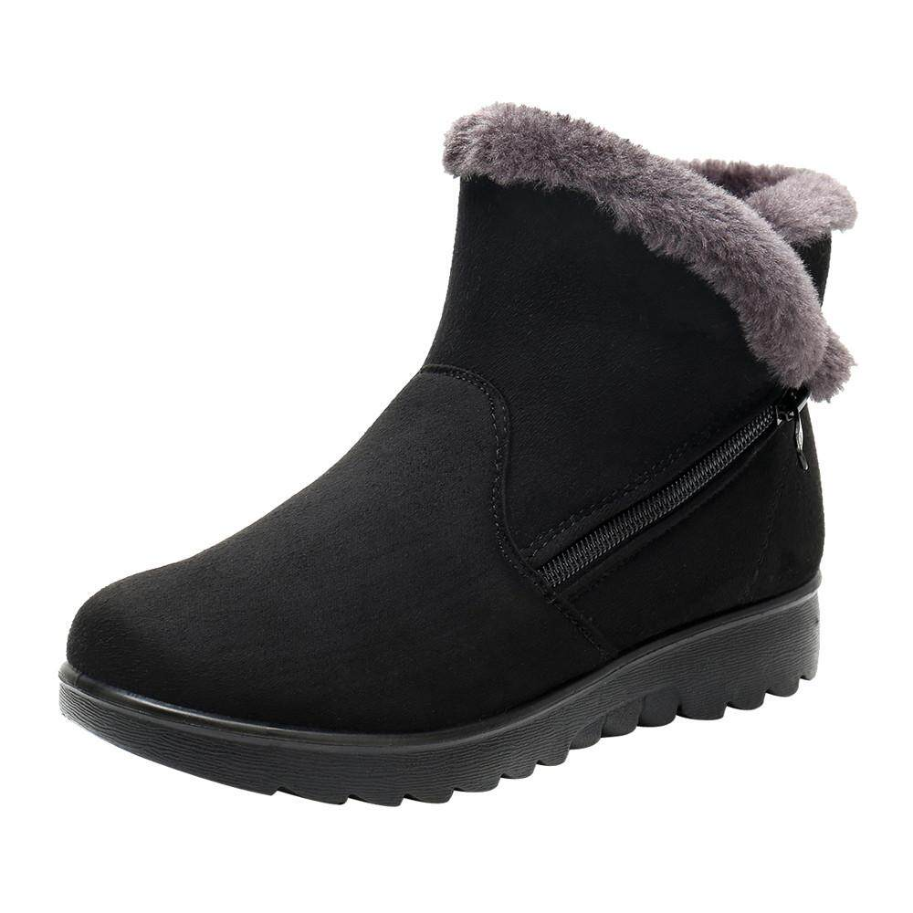 Guo Womens Ladies Winter Ankle Martin Short Snow Boots Fur Footwear Warm Shoes By Hongshouguostore.