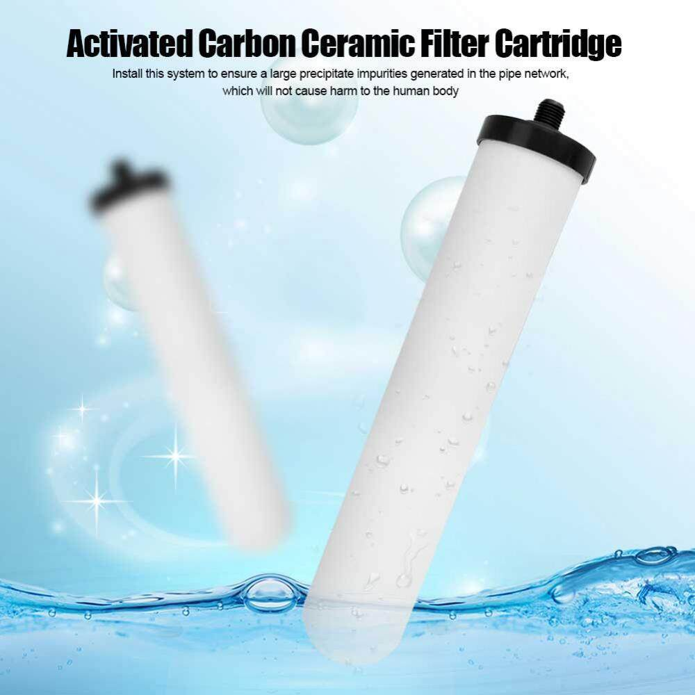minxin 10 Inch Activated Carbon Washable Ceramic Filter Cartridge Water Purifier Replacement