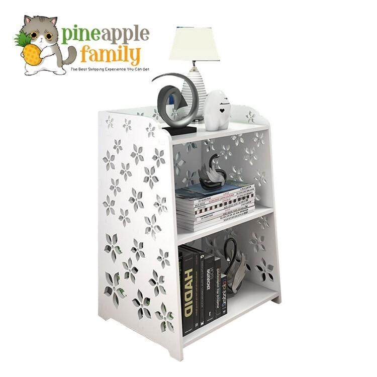Premium Wooden Bed Beside Table Storage Rack By Pineapple Family.