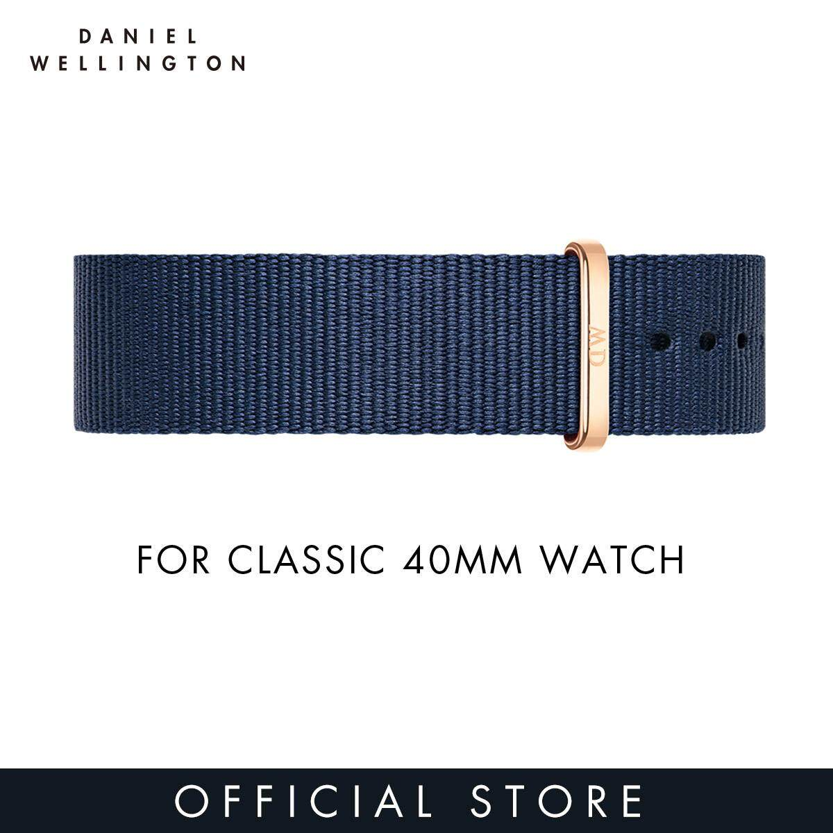 For 40mm Classic - Daniel Wellington Bayswater 20mm - Midnight Blue NATO Strap for 40mm DW Watches Malaysia