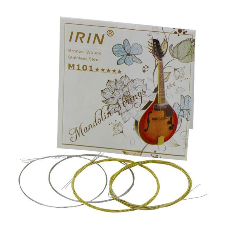 IRIN M101 Full Set Mandolin Strings Bronze Wound Stainless Steel Silver & Gloden Color (.010-.034) Malaysia