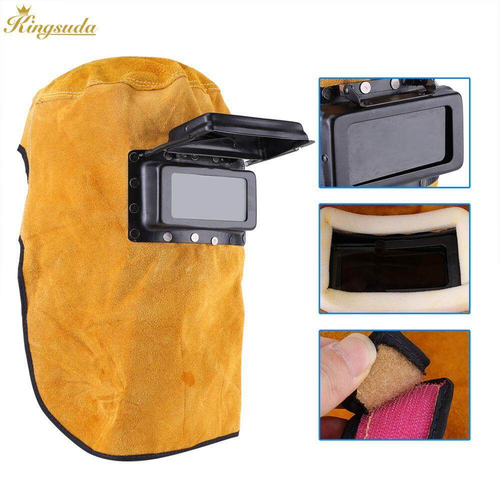 Kingsuda Welder Mask Welding Helmet Protect Yellow Cowhide Grinding Filter Lens