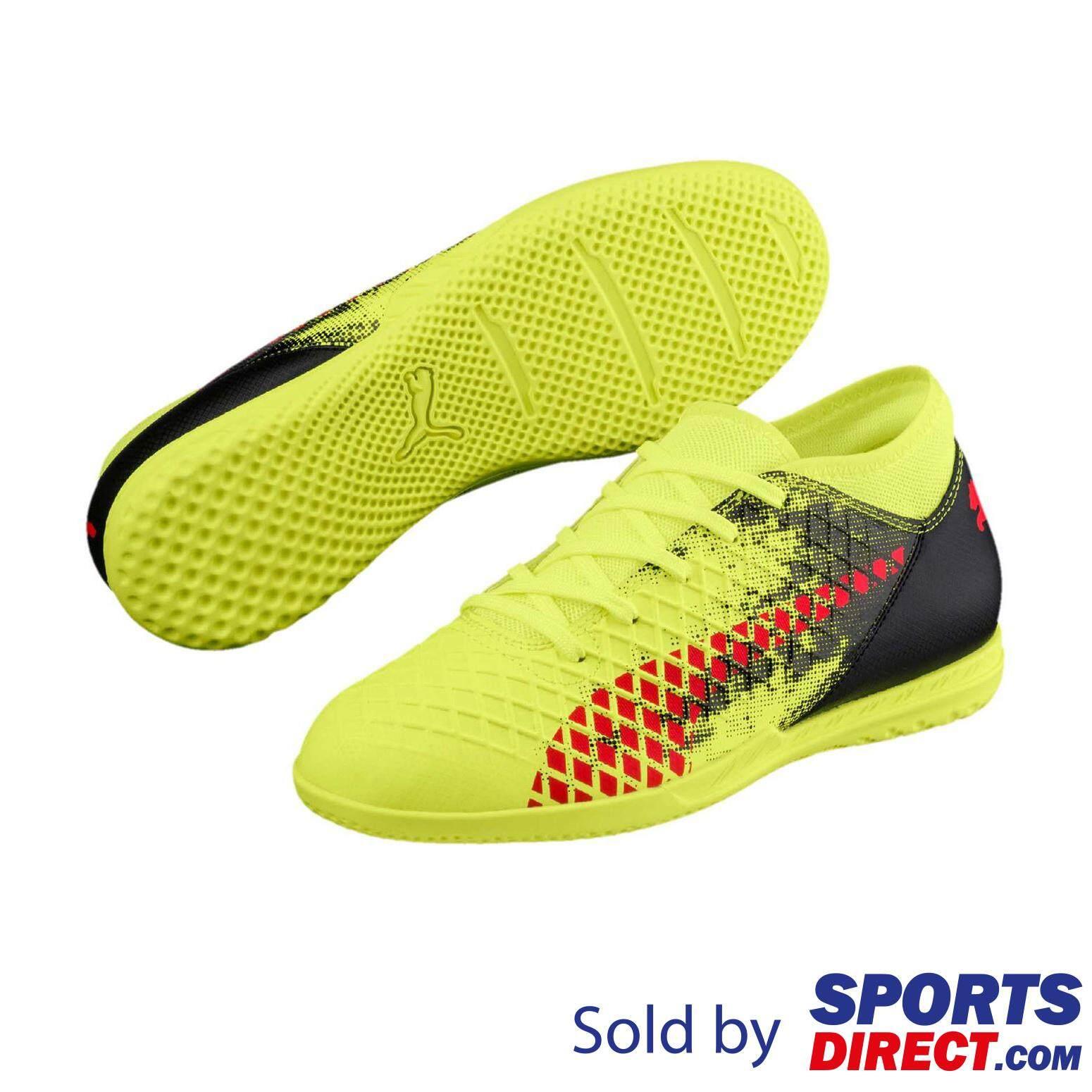 Puma Kids Boys FUTURE 18.4 IT Football Shoes (Yel Red Blk) 5d4129f961934