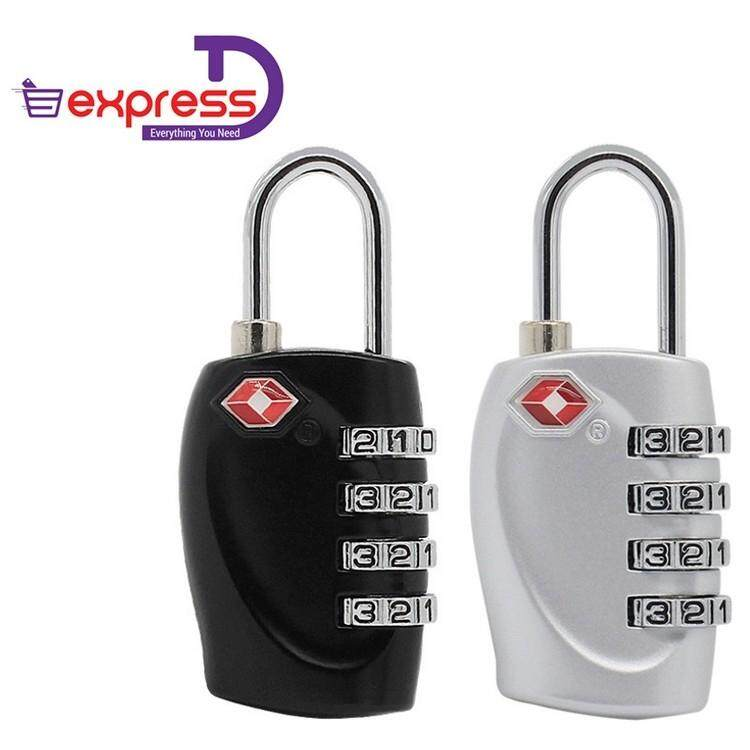 264a9fe4efc7 2 PCS Q-shop TSA Approved Luggage Travel Lock, 4 Rows Digital TSA  Combination Travel Luggage Zinc Alloy Lock Password Padlock for School Gym  ...