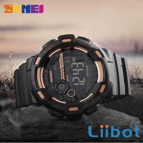 SKMEI Men Sport Watch Back Light LED Digital Watches Chronograph Shock Double  Time Waterproof Wristwatches 1243 cd7e946eda