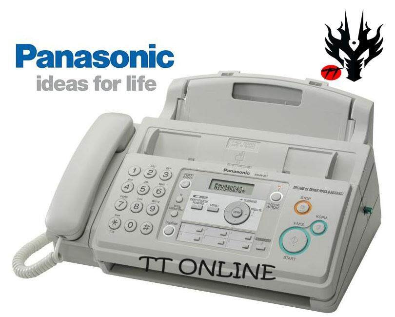 Panasonic Fax Machine Kx-Fp701ml Plain Paper Fax Machine (white) By Tt Online.