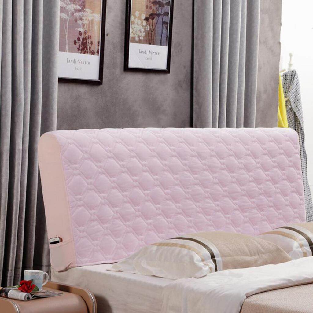 Bolehdeals Thickening Stretch Bed Headboard Slip Cover Protector Decoration Pink By Bolehdeals.
