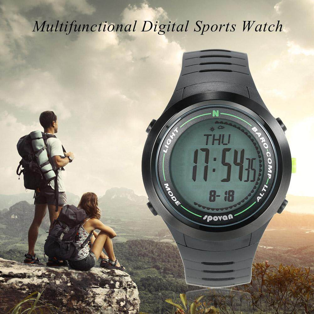 SPOVAN 5ATM Multifunctional Sports Watch Altimeter Barometer Thermometer Digital Compass Weather Forecast Pedometer Size 1 Malaysia
