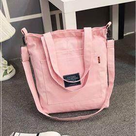 Al Sahhia Ready Stock Fashion Korean Style Design Women Linen Canvas Sling Bag Shell Casual Large