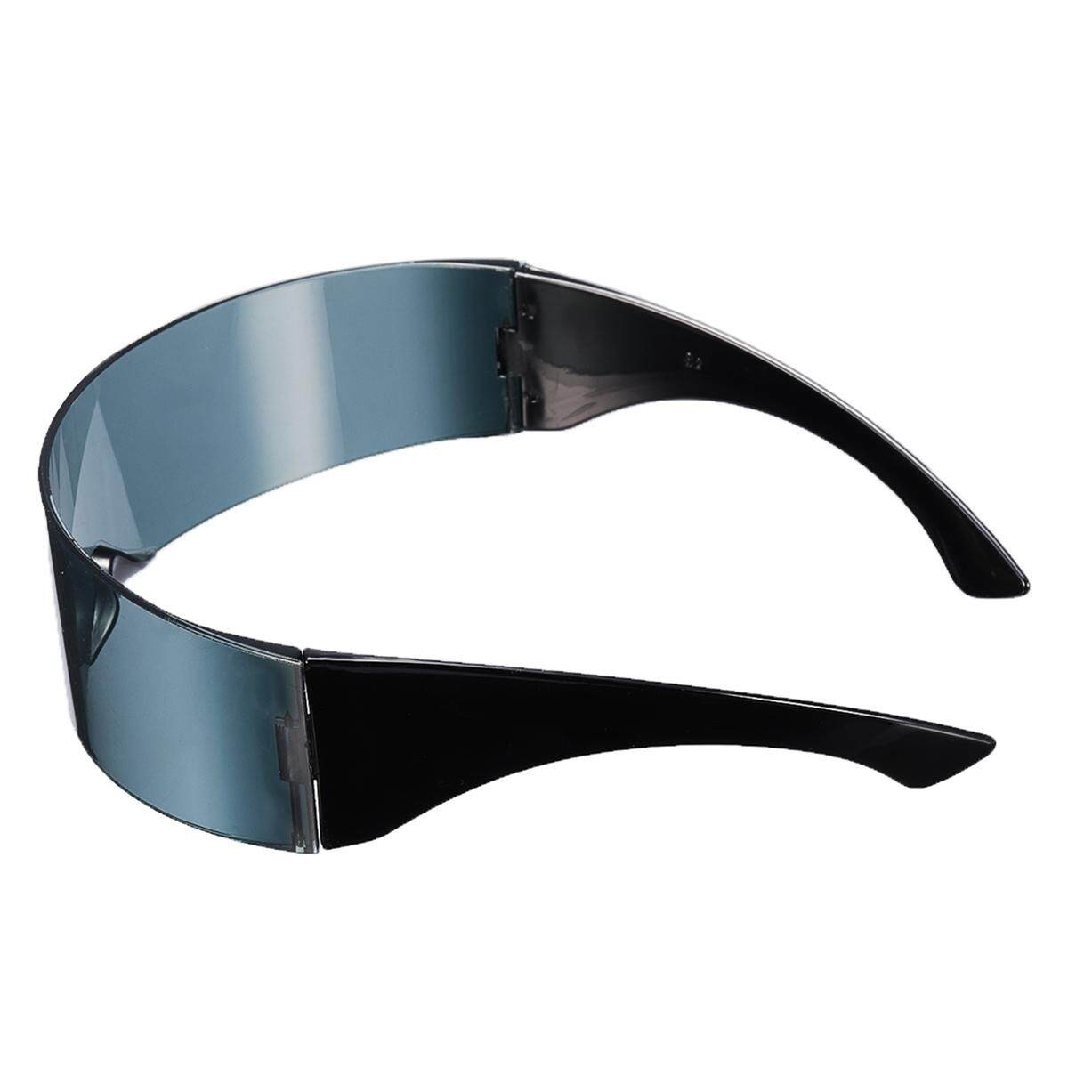 Round Futuristic Robot Party Glasses Narrow Men Colorful Mirrored Lens Visor Au By Glimmer.