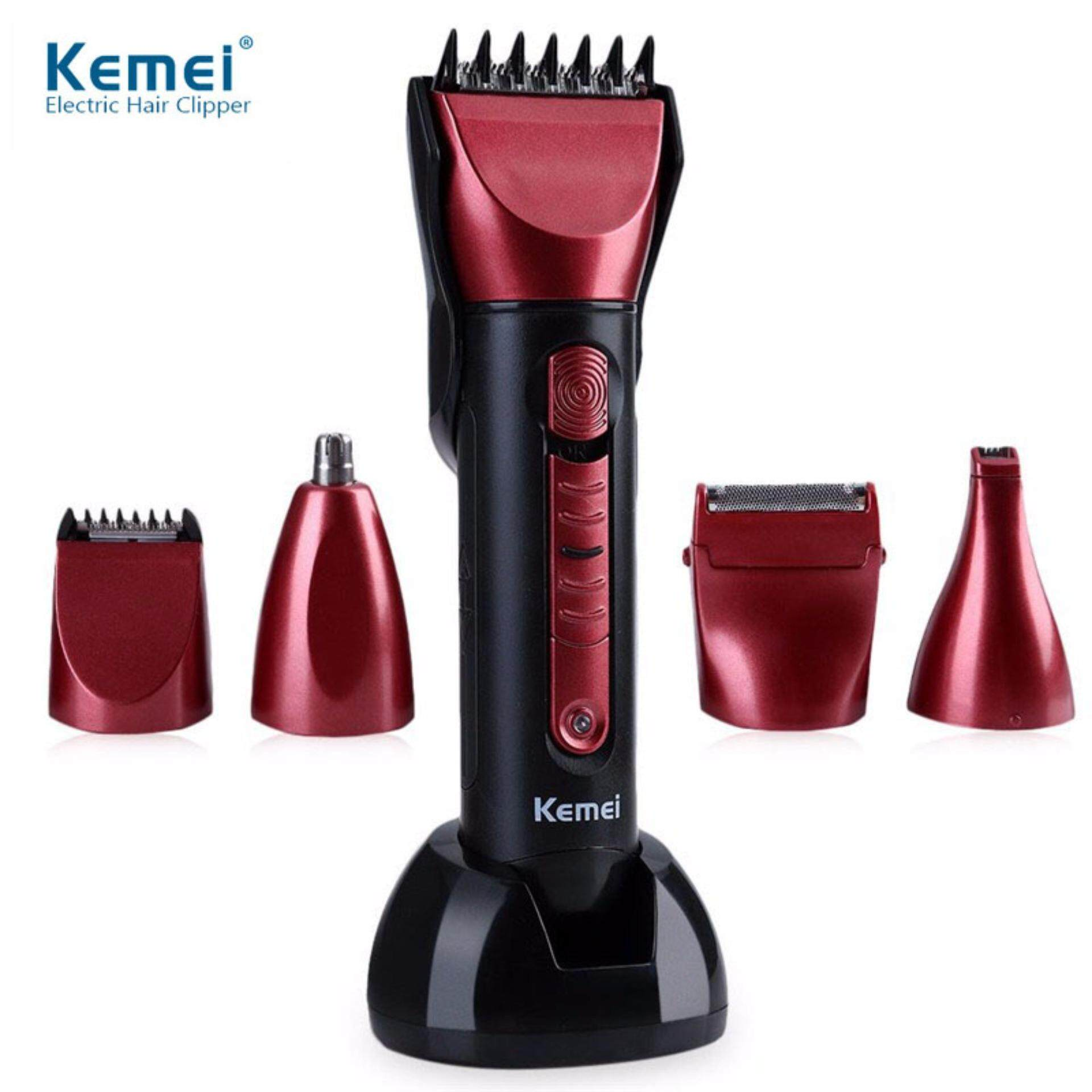 Kemei KM-8058 Professional 5 In 1 Washable Multi-functional Hair Trimmer Cordless Electric