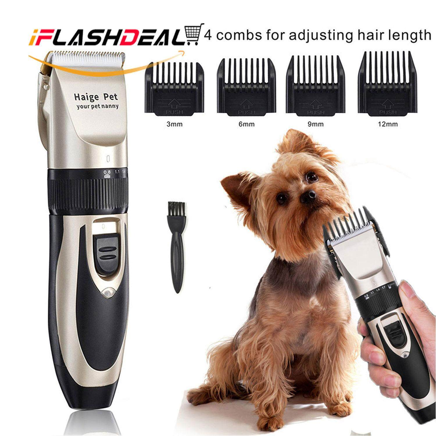 iFlashDeal Pet Cat Dog Hair Trimmer Grooming Kit Electric Clippers Animal Hair Clipper Shaver Set Haircut