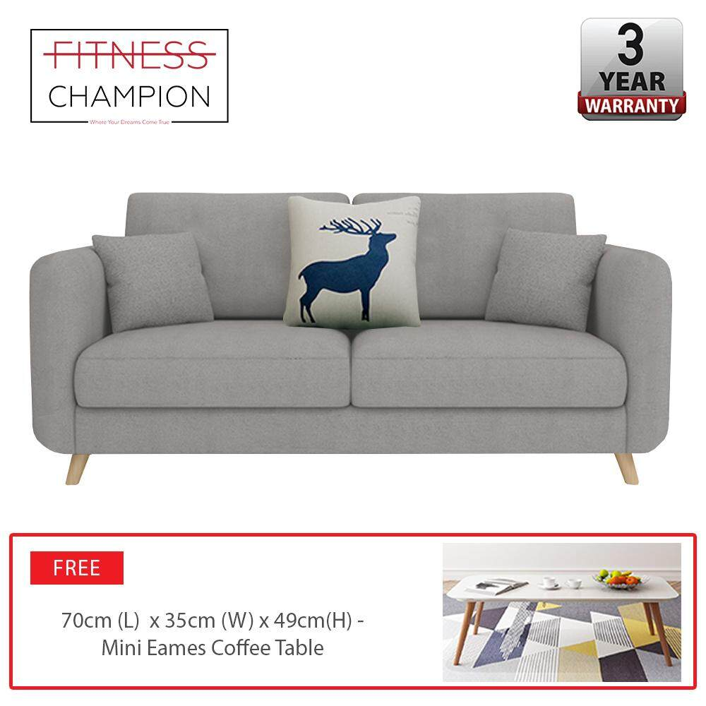 Modern ROOSEVELT 2 Seater Sofa with Coffee Table