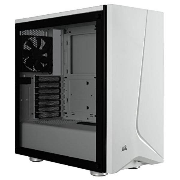 Corsair Carbide SPEC-06 Mid-Tower Gaming Case, Tempered Glass- White Malaysia