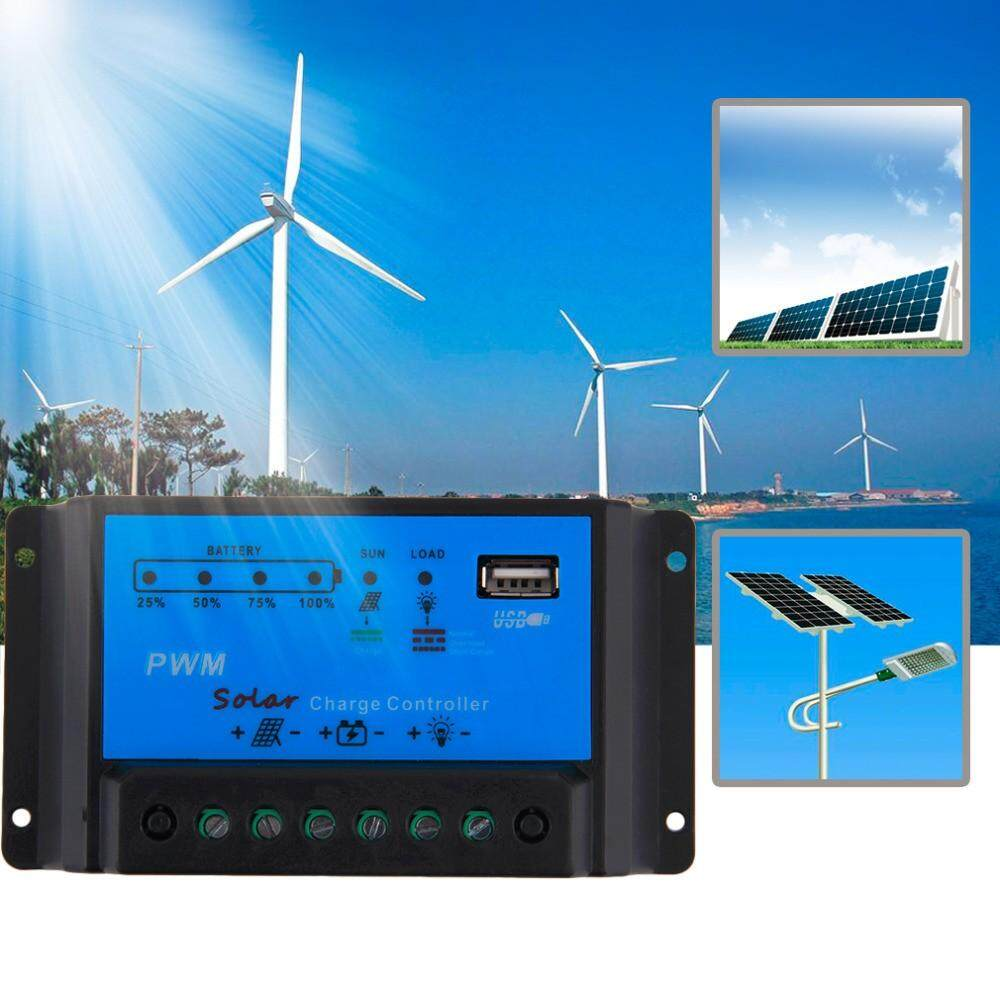 Intelligent 10A PWM Solar Panel Charge Controller 12V Auto Battery Regulator