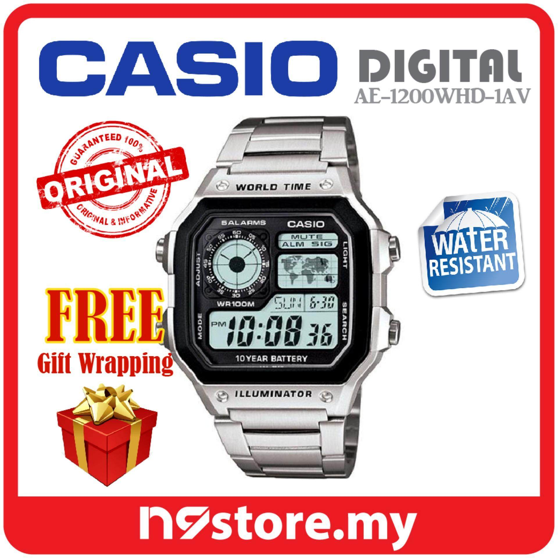 Casio Watches With Best Price At Lazada Malaysia Couple Mtp Dan Ltp 1170a 7a Jam Tangan Silver Strap Stainless Steel Ae 1200whd 1av Mens Watch Original