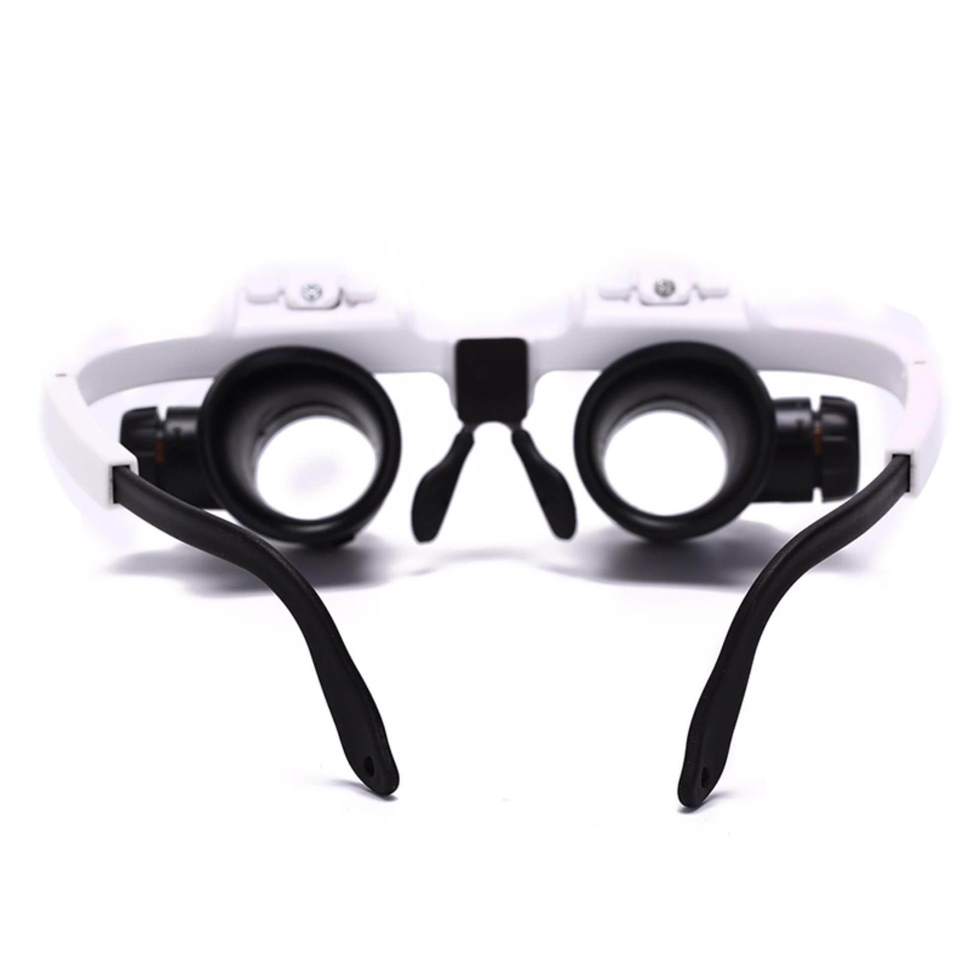 Female Warrior 8x 15x 23x Adjustable Bracket Loupe Led Light Headband Magnifier Glass With Lamp