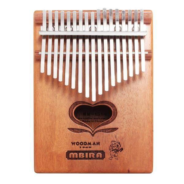 17 Keys Kalimba African Solid Mahogany Wood Thumb Piano Finger Percussion - Malaysia